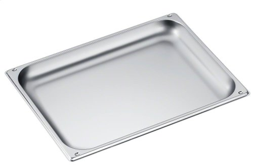 DGG 21 Unperforated steam oven pan for cooking food in gravy, stock, water (e.g. rice, pasta).
