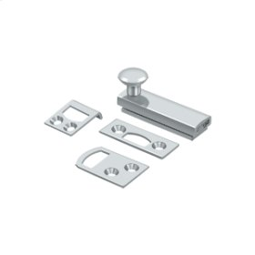 """2"""" Surface Bolt, Concealed Screw, HD - Polished Chrome"""