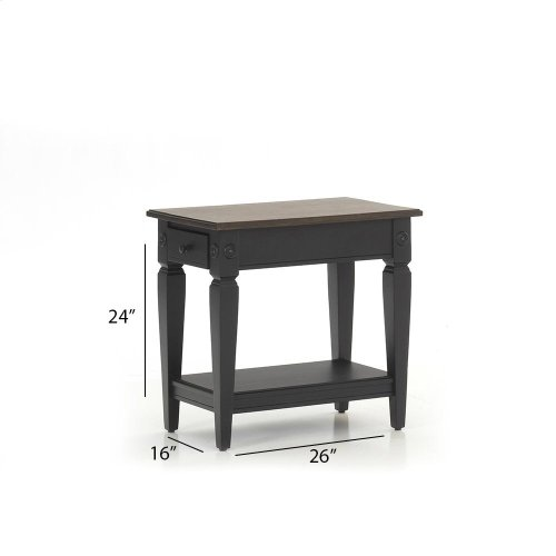 Living Room - Glennwood Chairside Table  Black & Charcoal