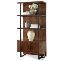 Terra Vista Bookcase Pier Casual Walnut finish