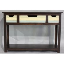 """#586 Plank Console Table 50""""wx16""""dx35""""h"""