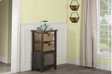Tuscan Retreat® Basket Stand With Metal Front and Two Baskets - Smoke