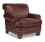 Bay Bridge Leather Chair with Nailhead Trim