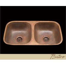 Bistro - Kitchen Sink - Plain Pattern - Polished Copper