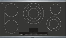 """36"""" Electric Cooktop Benchmark Series - Black with Stainless Steel Frame NETP666SUC"""