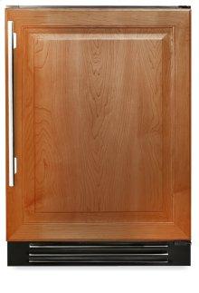 24 Inch Overlay Solid Door Undercounter Refrigerator - Left Hinge Overlay Solid