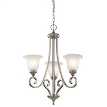 Monroe Collection Chandelier 3Lt NI