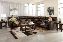 Lay Flat Reclining Console Loveseat