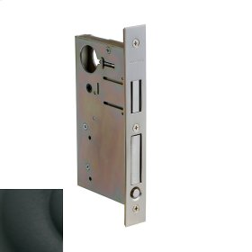 Satin Black 8632 Pocket Door Lock with Pull