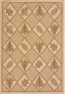 Solarium Woven Pine Brown Rugs Product Image