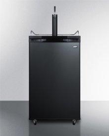 Freestanding Residential Beer Dispenser, Auto Defrost In Black Finish