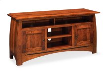 Aspen TV Stand with Soundbar Shelf, Aspen TV Stand with Soundbar Shelf and Inlay, Medium
