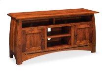 Aspen TV Stand with Soundbar Shelf, Aspen TV Stand with Soundbar Shelf and Inlay, Medium