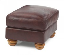 Bexley Leather Ottoman without Nailhead Trim