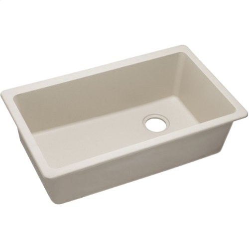 "Elkay Quartz Classic 33"" x 18-3/4"" x 9-1/2"", Single Bowl Undermount Sink, Putty"