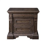Bedford Heights 3 Drawer USB Charging Nightstand in Estate Brown Product Image