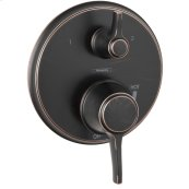 Rubbed Bronze C Pressure Balance Trim with Diverter