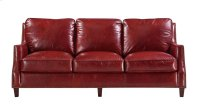 6103 Oakridge Ottoman 5510 Red (100% Top Grain Leather) Product Image