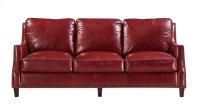 6103 Oakridge Ottoman 5510 Red (100% Top Grain Leather) Product Image