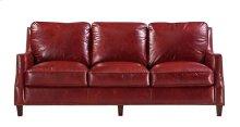 6103 Oakridge Ottoman 5510 Red (100% Top Grain Leather)