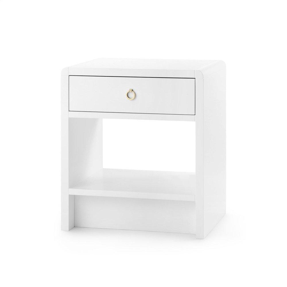 Benjamin 1-Drawer Side Table, White