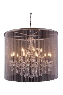 "1131 Brooklyn Collection Chandelier D:36"" H:30.5"" Lt:15 Dark Grey Finish (Royal Cut Crystals)"
