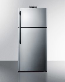 18 CU.FT. Break Room Refrigerator-freezer With Stainless Steel Doors and Nist Calibrated Alarm/thermometers