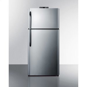 Summit18 CU.FT. Break Room Refrigerator-freezer With Stainless Steel Doors and Nist Calibrated Alarm/thermometers