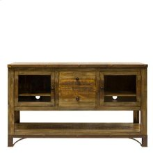 "TV Stand : 60"" x 16.75"" x 35.5"" Urban Rustic Entertainment Centre"