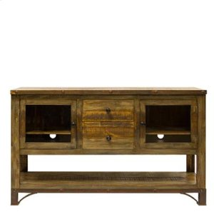 "TV Stand : 72"" x 16.75"" x 35.5"" Urban Rustic Entertainment Centre"