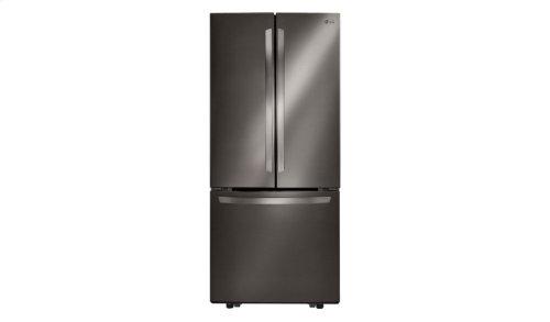 "LG Black Stainless Steel Series 21 cu. ft. Large Capacity 30"" Wide 3-Door French Door Refrigerator"
