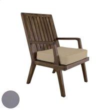 Teak Arm Chair Cushion in Grey