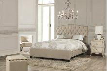 Lila California King Bed - Sandstone Linen