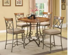 5-Pc. Hamilton Gathering Set - (1) 697-441 Gathering Table & (4) 697-430 Counter Stools