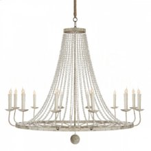 Naples Large White Chandelier