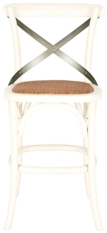 Eleanr X Back Counterstool - Distressed Ivory