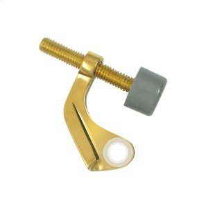 Hinge Pin Stop, Hinge Mounted for Steel Hinges - PVD Polished Brass Product Image