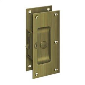 "Decorative Pocket Lock 6"", Privacy - Antique Brass"