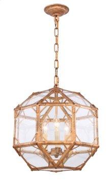 Gordon Collection 3-Light Golden Iron Finish Pendant