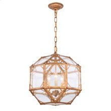 Gordon Collection 3-Light Golden Iron Finish Pendant
