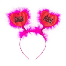 """Team Bride"" Heart Headband"