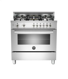 Stainless 36 5-Burner, Gas Oven