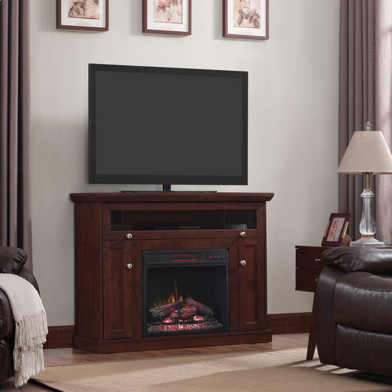 23de9047pc81 In By Classic Flame In Windsor Tv Stand With Electric