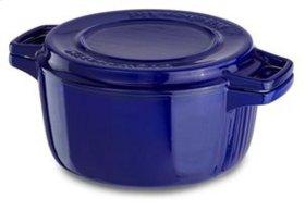 Professional Cast Iron 4-Quart Casserole - Fiesta Blue