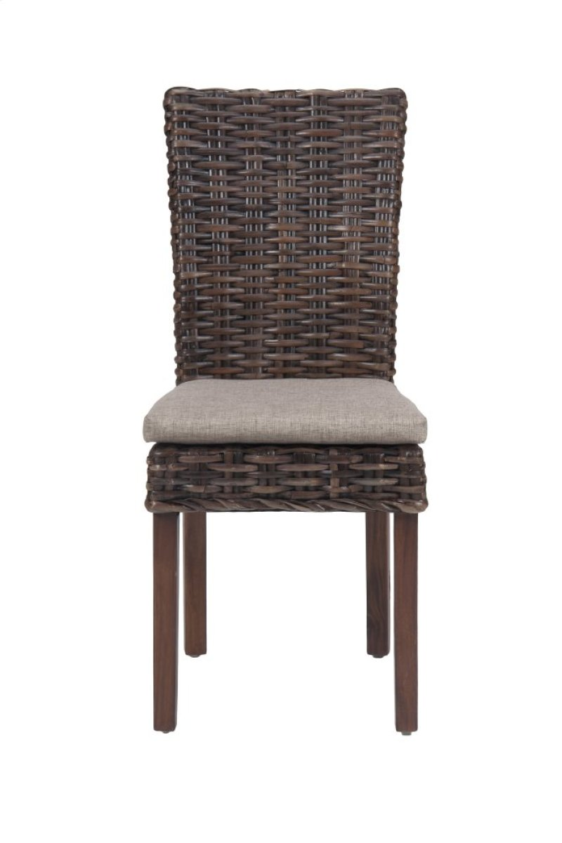 Urban Lodge Rectangle Dining Table With Six Rattan Chairs And Cushions