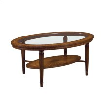 TWO TIER OVAL COCKTAIL TABLE