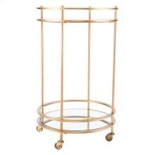 Round Bar Cart Gold