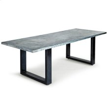 Lfd - Roscoe Zinc Dining Table With Plain Top