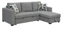 Lsf Chaise W/1 Accent Pillow-brown #17ak06-7