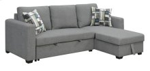 2pc-rsf Loveseat-lsf Chaise W/2 Accent Pillows-brown #17ak06-7
